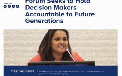 Forum Seeks to Hold Decision Makers Accountable to Future Generations